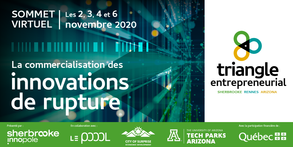 Sommet virtuel 2020 - Triangle entrepreneurial Sherbrooke - Rennes - Arizona